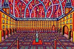 Madrid Plaza Mayor 100 x 100 cm