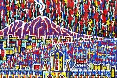 Napoli da San Martino, 100x100 cm, private collection