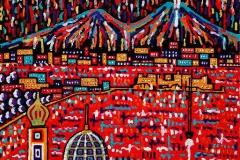 Napoli da Castel Sant'Elmo, 100x100 cm, private collection
