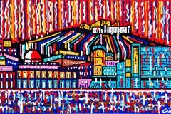 Napoli, Maschio Angioino, 60x120 cm, private collection