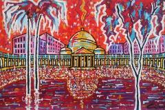 Napoli, Piazza Plebiscito, 60x120 cm, private collection